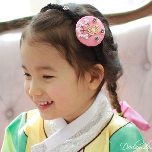ФОТО 22 Designs Resin Flower Headband Imported Traditional Korea Little Girls' Hair Clip Hair Accessory Hair Jewelry
