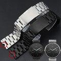 22mm new mens pulseiras de aço inoxidável pulseira para moto 360 relógio inteligente banda moto360 + ferramenta