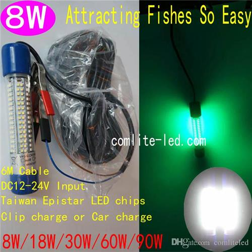 12v LED Green Lure Bait Finder Night Fishing Boat