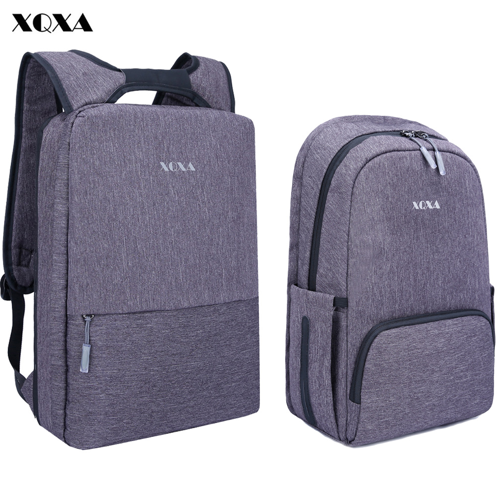 XQXA Light Slim Ανδρών Backpack Ελαφρύ 13 14 15,6 ιντσών Laptop Notebook Σακίδια Γυναικεία αδιάβροχο Thin Business Urban Backpack