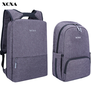 XQXA Light Slim Backpack Men Lightweight 13 14 15.6 Inch Laptop Notebook Backpacks Women Waterproof Thin Business Urban Backpack