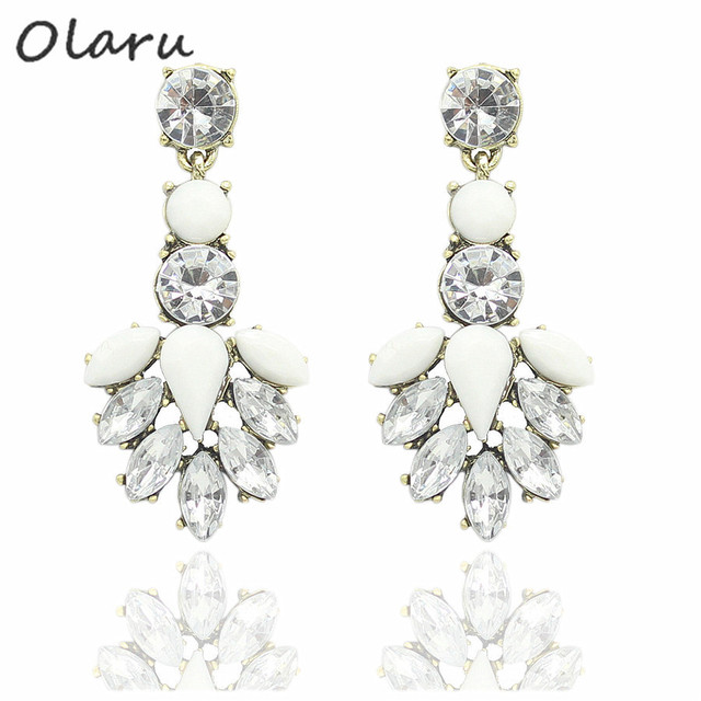 Good quality SALE NEW 2014 Vintage Jewelry Crystal Stud Earring For Women statement earrings Christmas Gift 20