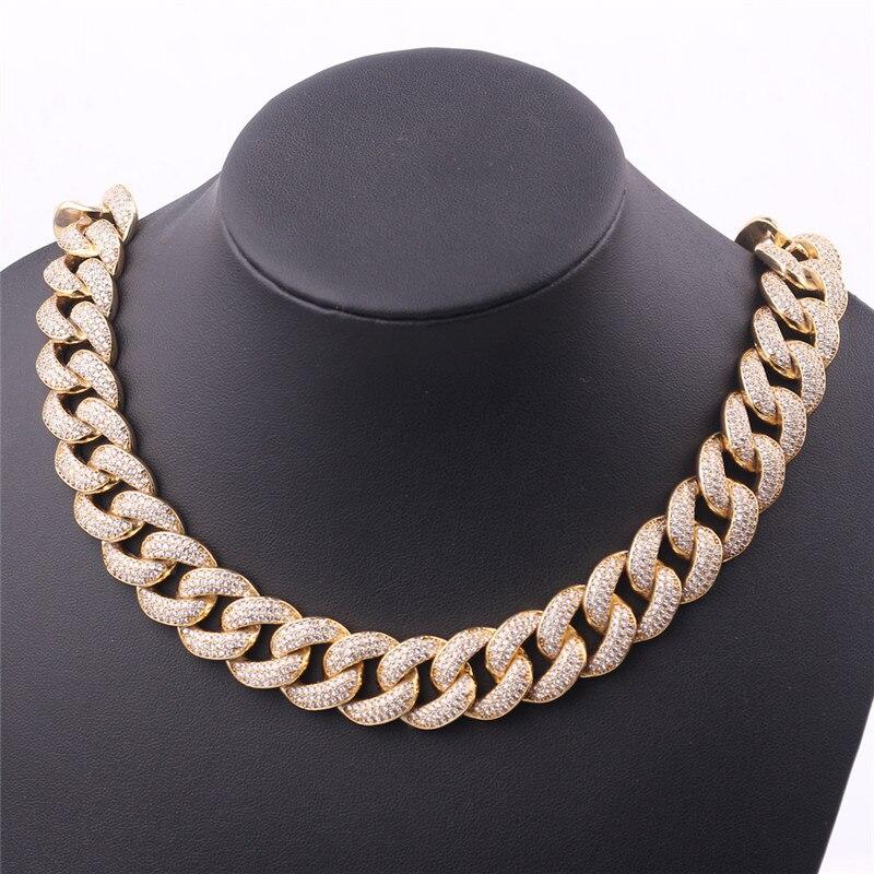 Angemessen Gothic Herren Hip Hop Halskette Iced Out Kristall Miami Kubanischen Kette Gold Halskette Trend Musik Party Bar Kunst Aussagen Schmuck