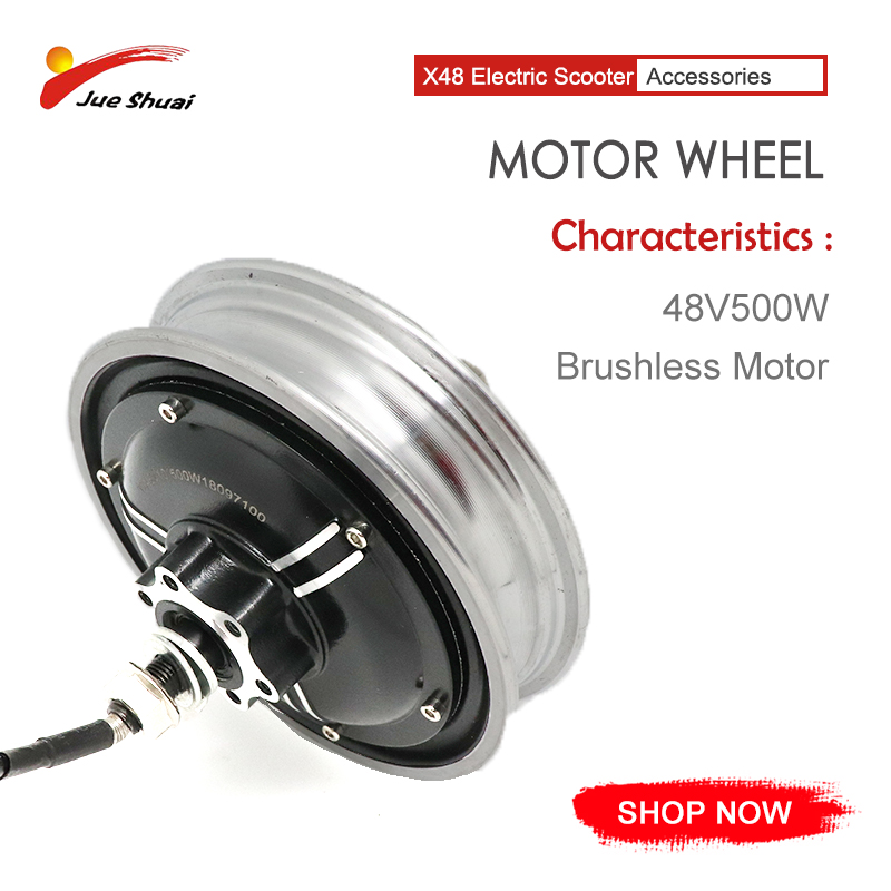 48V 500W Electric Motor For Electric Scooter Brushless Motor Disc Brake E Scooter Motor Wheel No Hall Line Scooter Engine Ebike