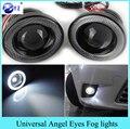 1 Компл. 3.5 3.0 2.5 дюймов COB Angel Eyes Противотуманные Фары привели Автомобиль Лампы Фар DRL Универсальный дневного света 89 мм 76 мм 64 мм