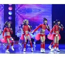 Детская танцевальная одежда для сцены; детский танцевальный костюм в стиле хип-хоп, хип-хоп, джаз; современное платье с блестками для девочек; одежда для Черлидинга