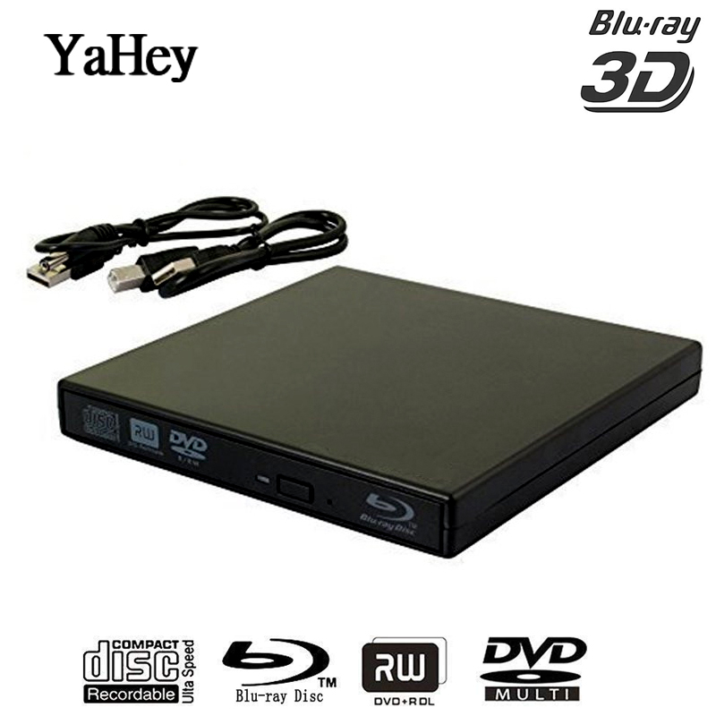 YAHEY Blu ray Player Drive USB 2.0 External Optical Drives DVD Burner BD-ROM Portable CD-RW Writer Recorder for Laptop Computer