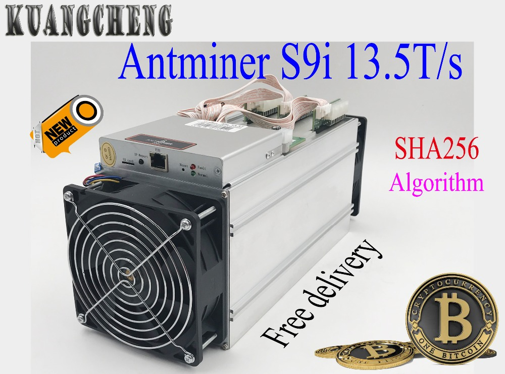 KUANGCHENG sell AntMiner S9I 13.5T Bitcoin Miner high hash Asic Miner Newest 16nm Btc BCH Miner From Bitmain antminer s7 4 73t repair hash plate hash board one pc 1 57t bitcoin miner btc mining machine 28nm bm1385 chip sha256 miner