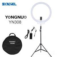 YongNuo YN308 3200K 5500K LED Video Ring Light Wireless Remote Photographic Lighting CRI 95 W 2m