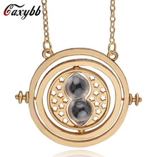 Caxybb Hot Sale Rotating Hourglass Hermione Granger Vintage Hourglass Pendant Necklace for Lady Girl Women Wholesale