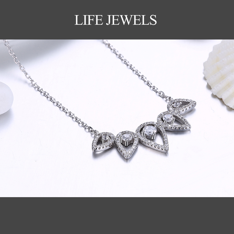 Authentic100 925 Sterling Silver Austrian Zircon Pendants Charm l Women Luxury Valentine 39 s Day Gift Jewelry 18139 in Pendants from Jewelry amp Accessories