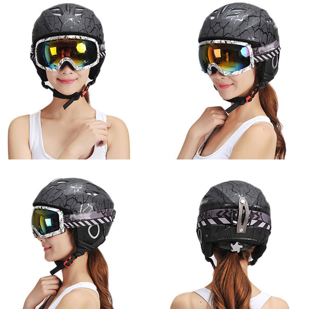 En plein air casque de ski Moulée Intégralement Hiver Neige casque de ski homme femme De Patinage Planche À Roulettes Ski accessoires de casque M L Taille