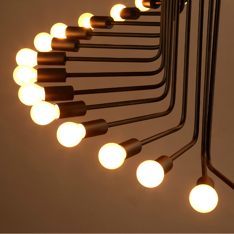 FUMAT Loft Retro Chandelier Modern Art Deco Minimalist Living Room Dinning  Room Cafe Bar 26 Lights Spiral Stair Chandelier  In Chandeliers From Lights  ...
