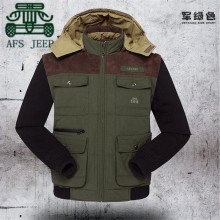 AFS JEEP Double Wear 100% Cotton Patchwork Original Brand Coat,Mans casual Cargo Sportswear,Male Men's Greatcoat,New Jacket men