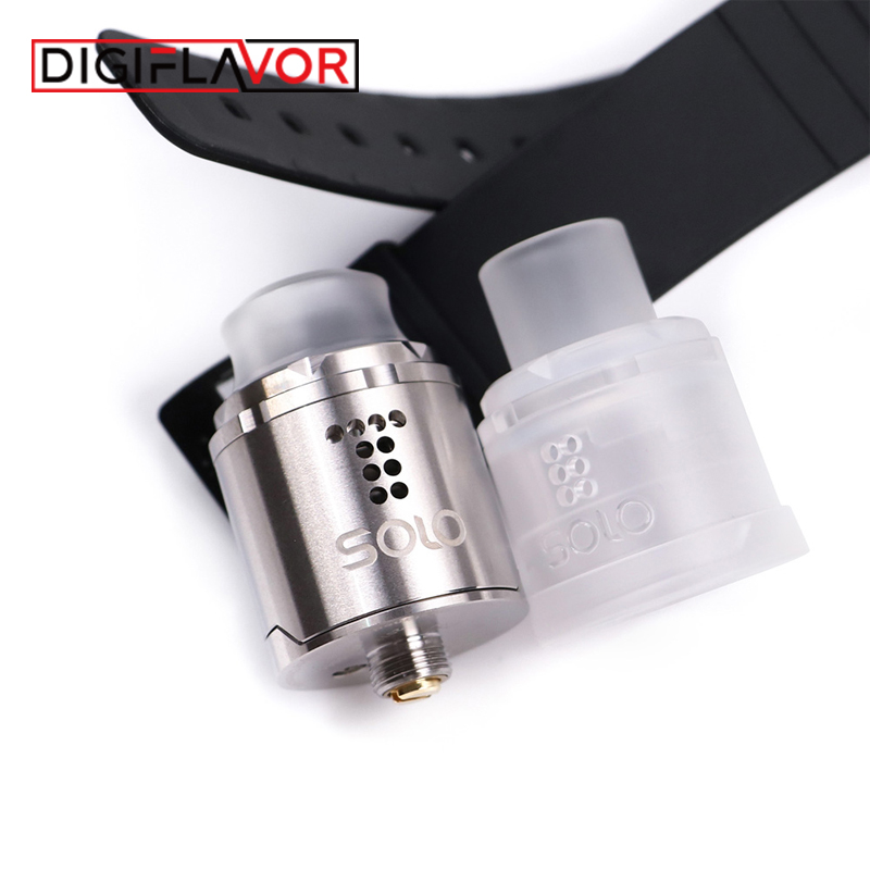 Digiaroma Drop Solo RDA Vape réservoir simple bobine 22mm goutte RDA cigarette électronique atomiseur Standard 510/soulevé 510 broches BF Squonk - 4