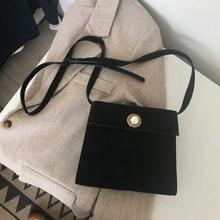 BENVICHED Осенняя женская сумка 2019 Новый Ретро замшевые чистый цвет косые  одного плеча моды черный простой f985369946c