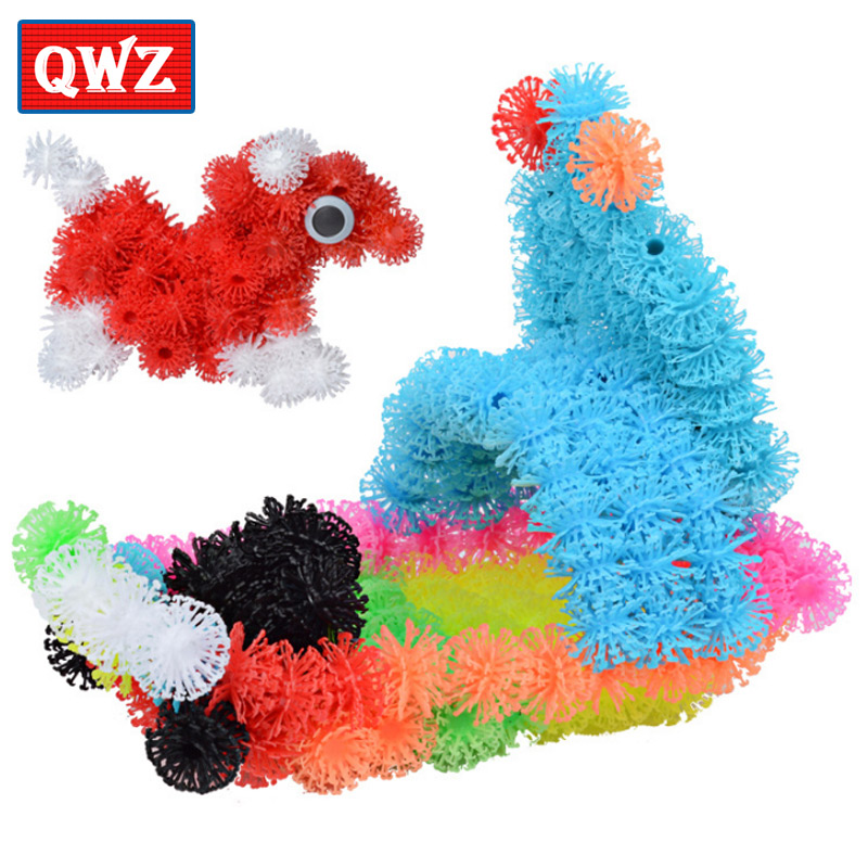 QWZ Assemble 3D Puzzle DIY Puff Ball Squeezed Ball Creative Thorn Ball Clusters Handmade Educational Toys Birthday Gifts For Kid