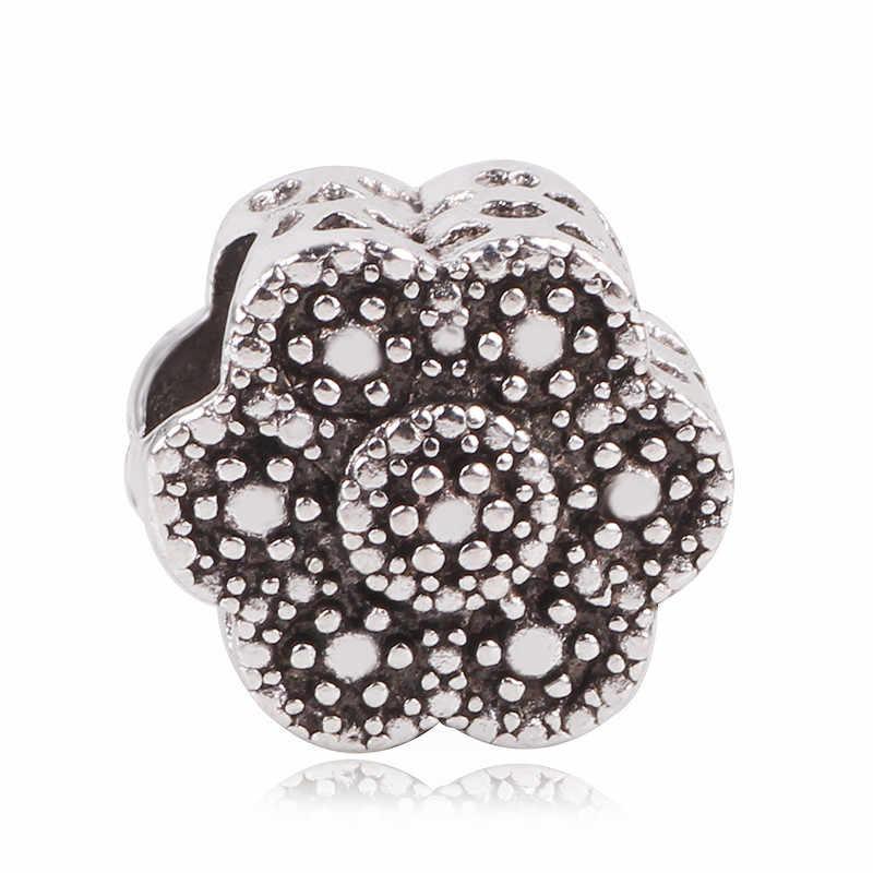 AIFEILI naszyjnik osobowość koralik DIY nadaje się do bransoletka pandora kobiety biżuteria europejski urok zwierząt niedźwiedź złota