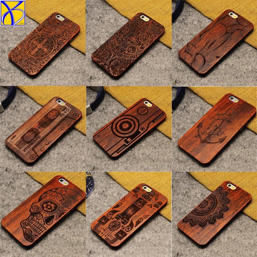 ICasiber rétro PC + étui pour iPhone 5 5 S SE 6 6 S 6plus 7 7plus étui en bois Vintage nouveauté pour iPhone 8 8 Plus X