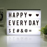 2018 New LED Combination Light Box Night Lights Lamp DIY Black And White Letters Cards USB