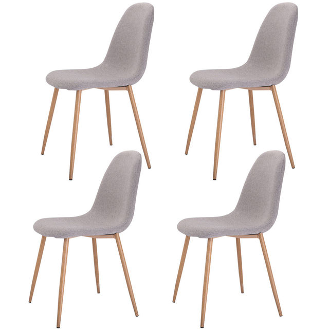 US $155.99 |Giantex Set of 4 Pcs Modern Dining Accent Side Chairs Living  Room Wood Legs Leisure Chair Home Furniture HW52020-in Living Room Chairs  ...