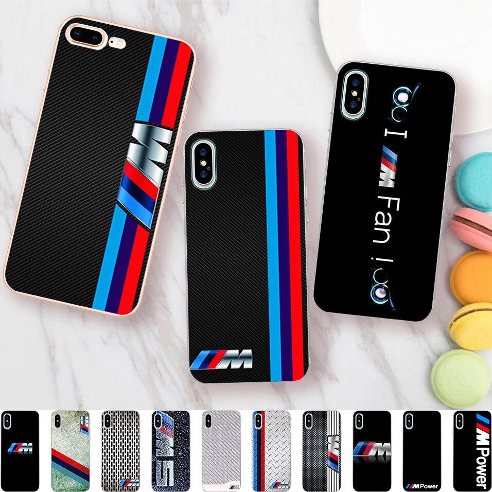 Minason автомобиль логотип Чехол для iPhone X 5 s 5S 6 6 S 7 8 плюс BMW крышка прозрачная САППУ мягкие силиконовые телефон Fundas Capinha Coque ...