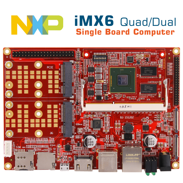 i.mx6quad computer board imx6 android/linux development board i.mx6 cpu cortexA9 board embedded POS/car/medical/industrial board