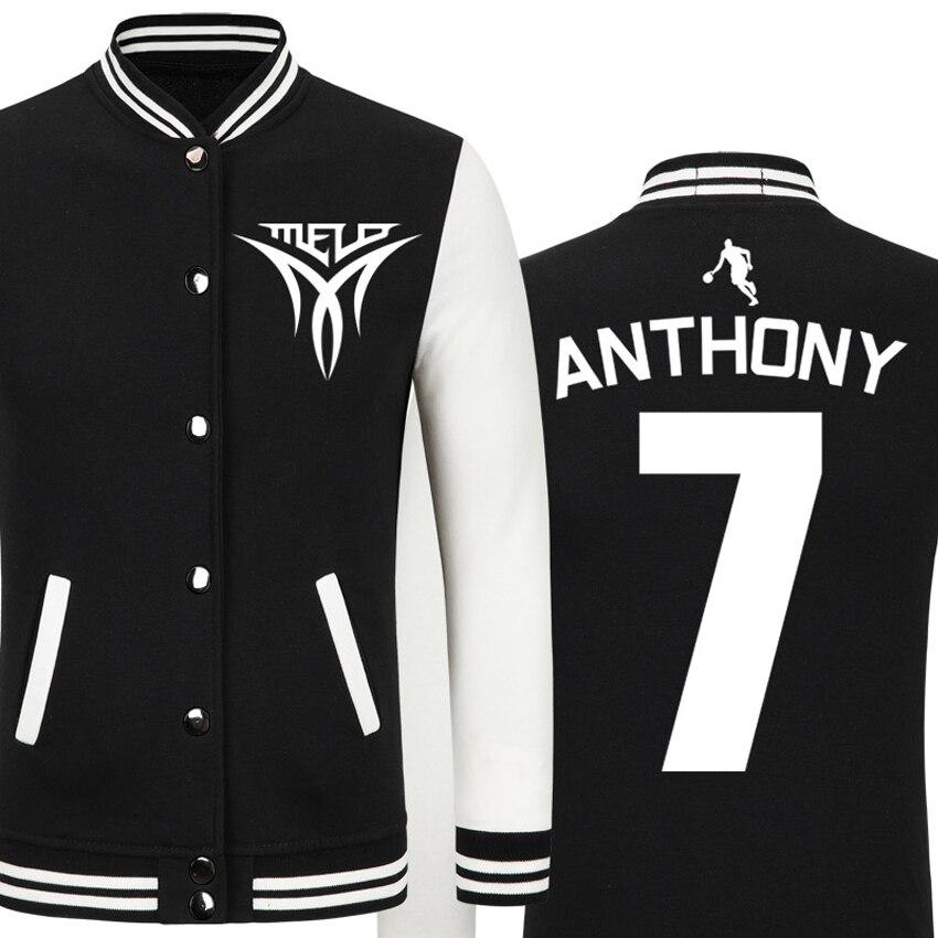 DUZJIAN Весна Новый Никс Кармело Энтони повседневная куртка недорогие мужские зимние куртки мужские пальто Майо Париж 2016 куртка в стиле хип-хо...