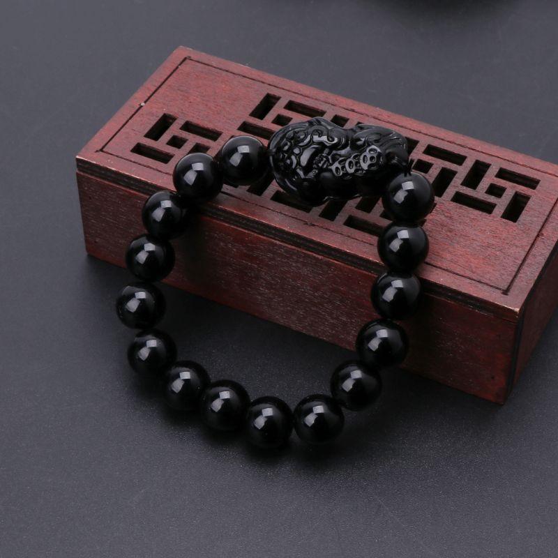 Feng Shui obsidienne pierre richesse Pi Xiu Bracelet attirer la richesse et la bonne chance
