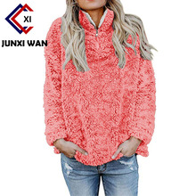 Women Hoodies Sweatshirt 2018 Winter Warm Long Sleeve Coat Casual Ladies Oversized Zip Jumper Tops Pullover Plus Size Poleron
