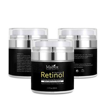 Mabox Retinol 2.5% Moisturizer Face Cream Vitamin E Collagen Retin Anti Aging Wrinkles Acne Hyaluronic Acid Whitening Cream 1