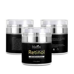 Mabox Retinol 2.5% crema facial hidratante vitamina E colágeno Retin arrugas antienvejecimiento crema blanqueadora de acné ácido hialurónico