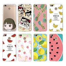 Soft TPU Phone Case Fruits lemon Banana pineapple Mickey Minni For xiaomi redmi 6 5s 5x 6x note3 mi8 4x 4a 3s note4x note5a c241(China)