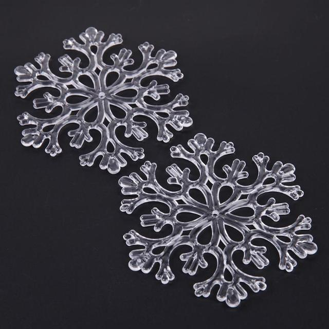 6pcs/set Transparent/Silver Snowflake Pendant Christmas Tree ...