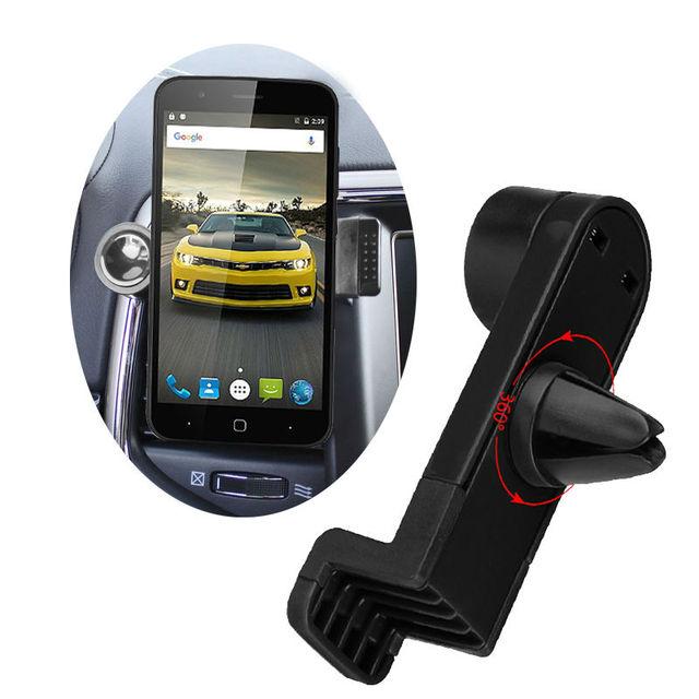 360 Degree Portable Car Air Vent Holder for Wiko Rainbow Jam, Lenny 2, Selfy, Rainbow Up, Rainbow Lite, Ridge Phone Car Trestle