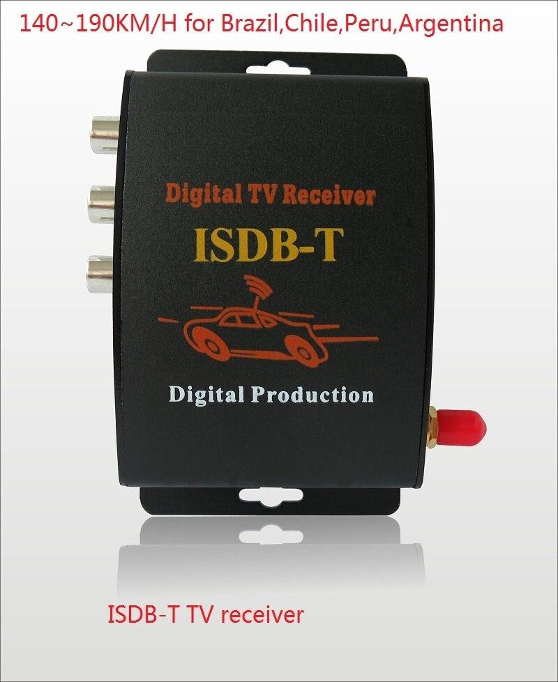 Isdb-t Car Digital Tv Receiver 190km/h Car Isdbt Tv Tuner 2 Video Output For Brazil Chile Argentina Peru