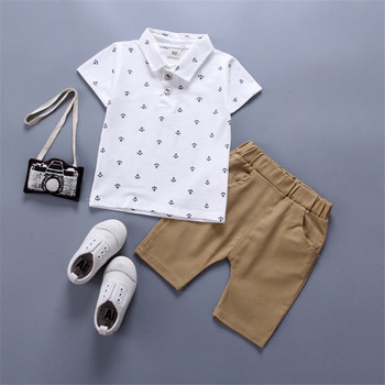 Newborn summer baby boys clothes set infants top+shorts 2 pieces toddler clothing set casual cotton boys clothes 1