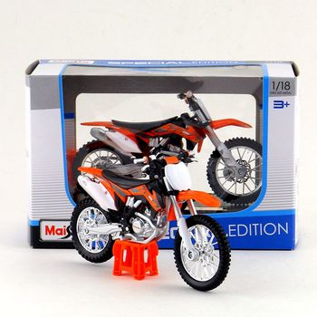 Maisto/1:18 Scale/Diecast model motorcycle toy/KTM 450 SX-F Supercross Model/Delicate Gift or Toy/Colllection/For Children image