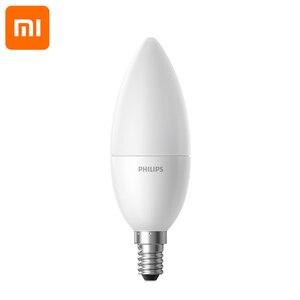 Image 2 - Original Xiaomi lámpara LED inteligente Wifi Control remoto por mi aplicación para hogares E14 bombilla de 3,5 W 0.1A 220 240V 50/60Hz 250 ml/200 ml inteligente kit de casa