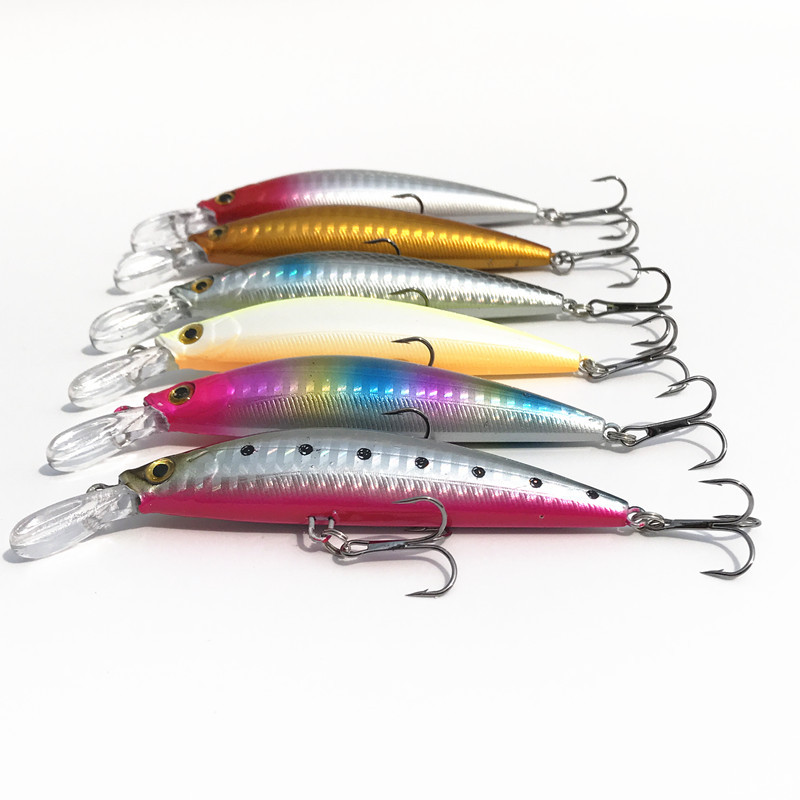 Lot 6 Pieces Free Shipping Big Sinking Minnow Fishing Tackle Artificial Lures Hard Bait 9cm/25g Catch Sea Bass Hook Lure 1pcs 16 5cm 29g big minnow fishing lures deep sea bass lure artificial wobbler fish swim bait diving 3d eyes