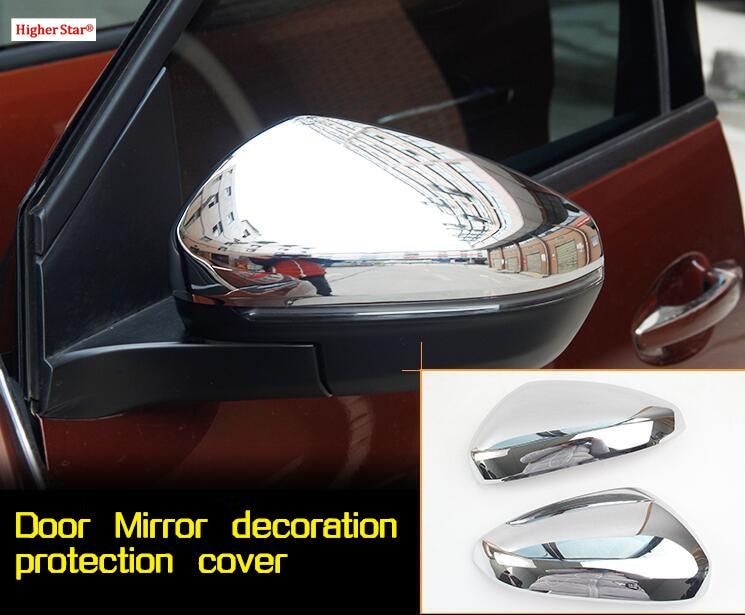 Haute étoile ABS chrome 2 pièces couverture de protection de chapeau de décoration de miroir de porte de voiture pour citroën 4008, C5 aircross 2018,