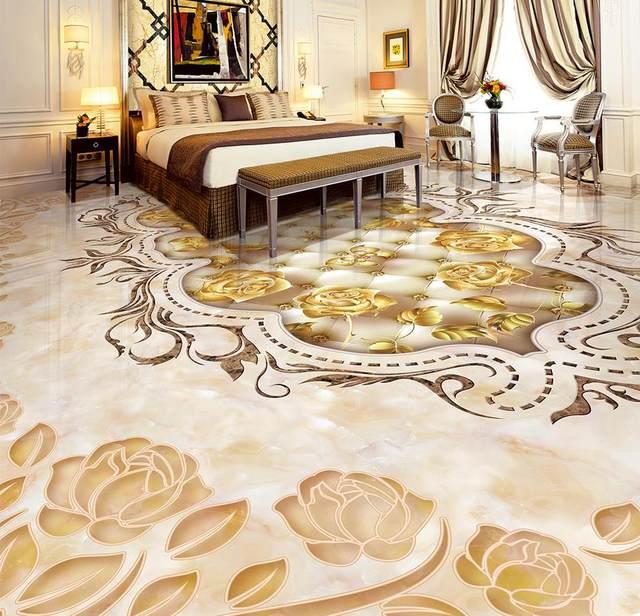 Online Shop Marbled Mosaic Tiled Floors Custom Photo Self Adhesive