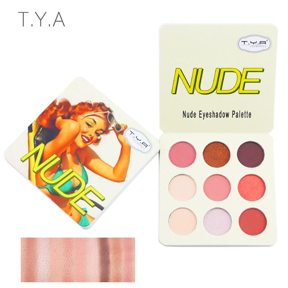 TYA 2019 Matte Palette Nude Minera  Professional Lasting Eye Shadow Powder Pigment Cosmetic Waterproof Matte Makeup Eyeshadow