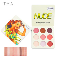 TYA 2019 Matte Palette Nude Minera Professional lasting Eye Shadow Powder Pigment Cosmetic Waterproof Matte Makeup Eyeshadow(China)