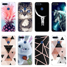 Silicone Case For Huawei Honor 7A Pro Case 5.7 inch Cute TPU Phone Cases For Huawei Y6 Prime 2018 Y6 2018 Enjoy 8e Fundas Coque все цены