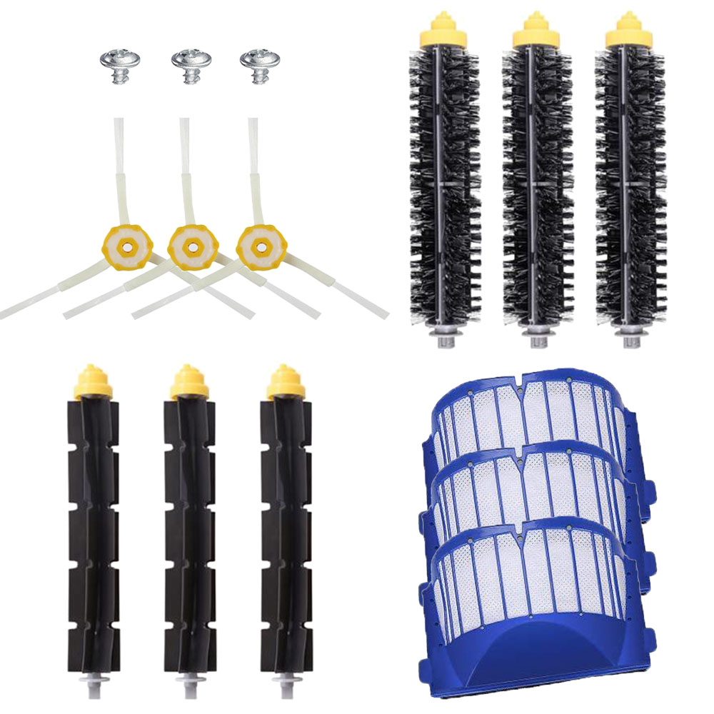 Aero Vac Filters & Beater Bristle Brushes & Side Brushes For IRobot Roomba 600 Series 620 630 650 660 Vacuum Cleaner Parts