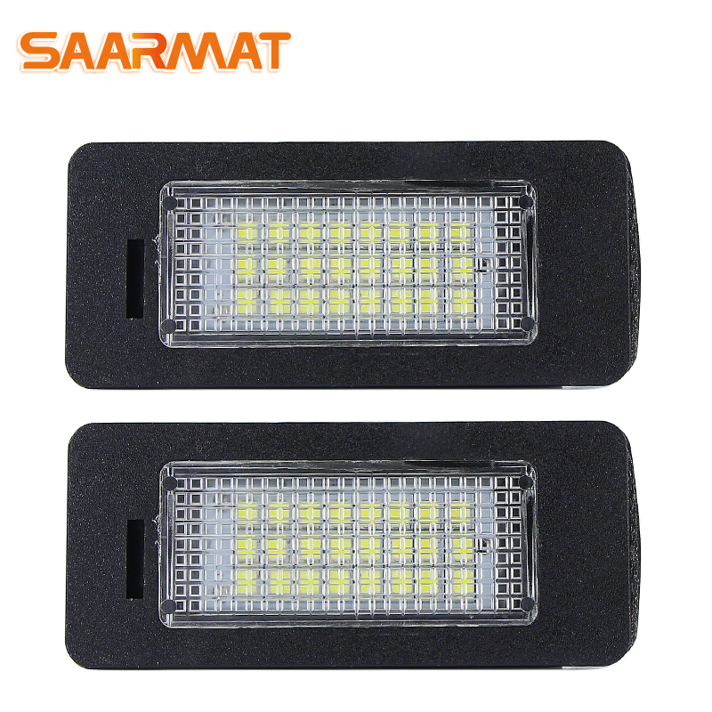 SAARMAT For BMW 3 5 X Series E90 E90N E91 E92 E93 M3 E46 CSL E39 E60 E60N E61 E70 E71 E82 E88 Led Car License Plate Lights Bulb