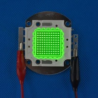 High Power 100W Square Base Bright Green 520nm~525nm SMD LED diodes Light Parts 32V 3000mA