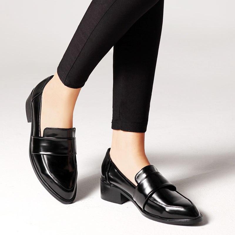 Cuir Dropshipping amp; Business marron European Plates En Mocassins Lui Zaco De Mode Noir 2019 Printemps Noir Femmes Nouveau G Appartements Simples Chaussures 6w4nWdqH4