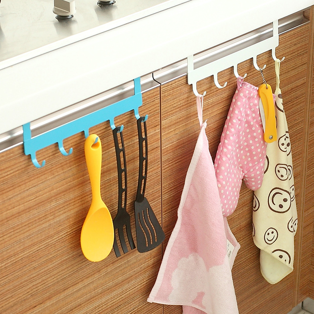 Aliexpress.com : Buy 5 Hooks iron over door rack for kitchen ...